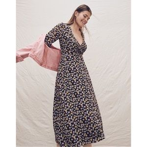 Madewell | Wrap-Front Maxi Dress in French Floral